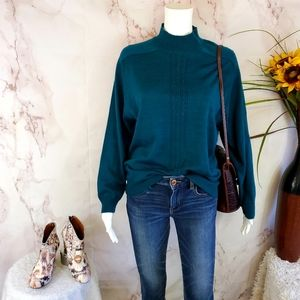 Macy's Alfred Dunner pretty teal soft knit sweater